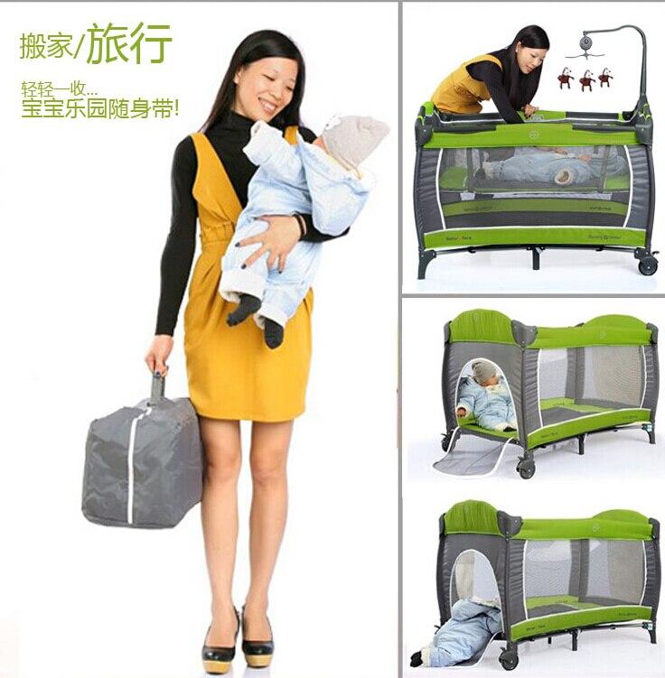 Berceau européen Portable pliant nouveau lit bébé multi-fonction lit de jeu pour enfants nouveau lit de voyage bébé nouveauté berceau - 5