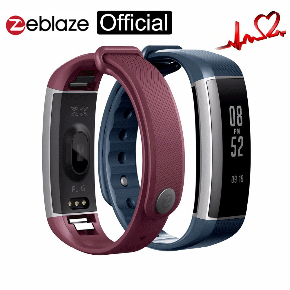 Original Zeblaze Zeband Plus Smart Wristband Pedometer Heart Rate Monitor Fitness Bracelet BT 4 0 IP67