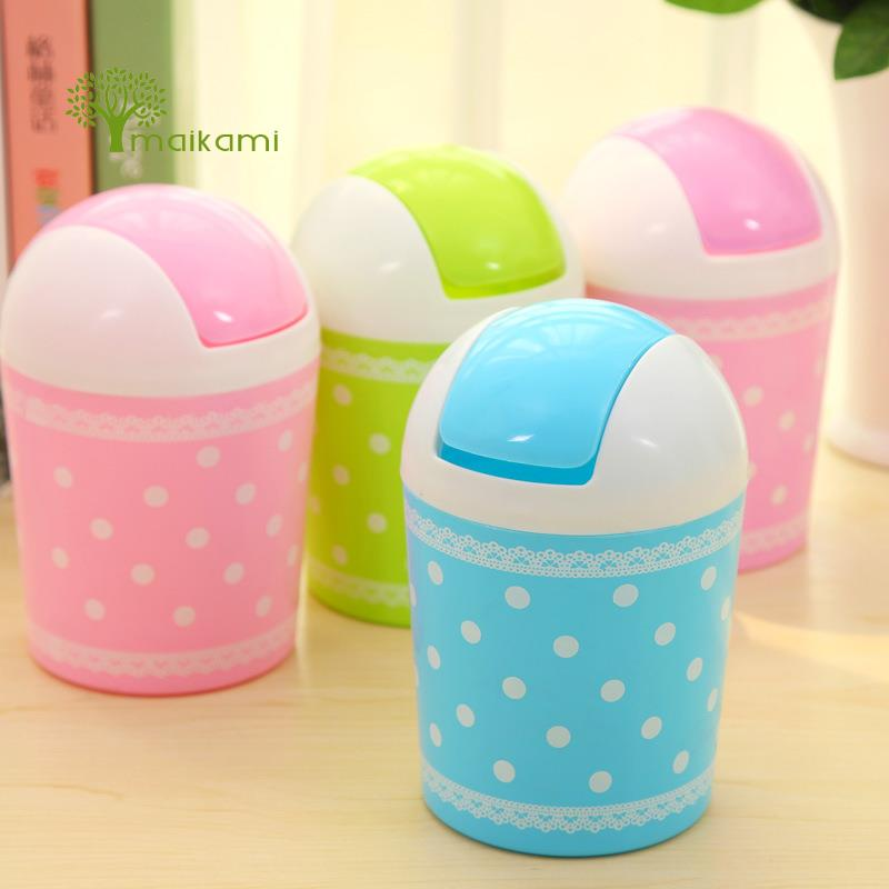 Buy Plastic Mini Table Dustbin Sundries Barrel Storage Tank Desktop Garbage Receive A Box Trash Can Ash-Bin for $4.24 in AliExpress store