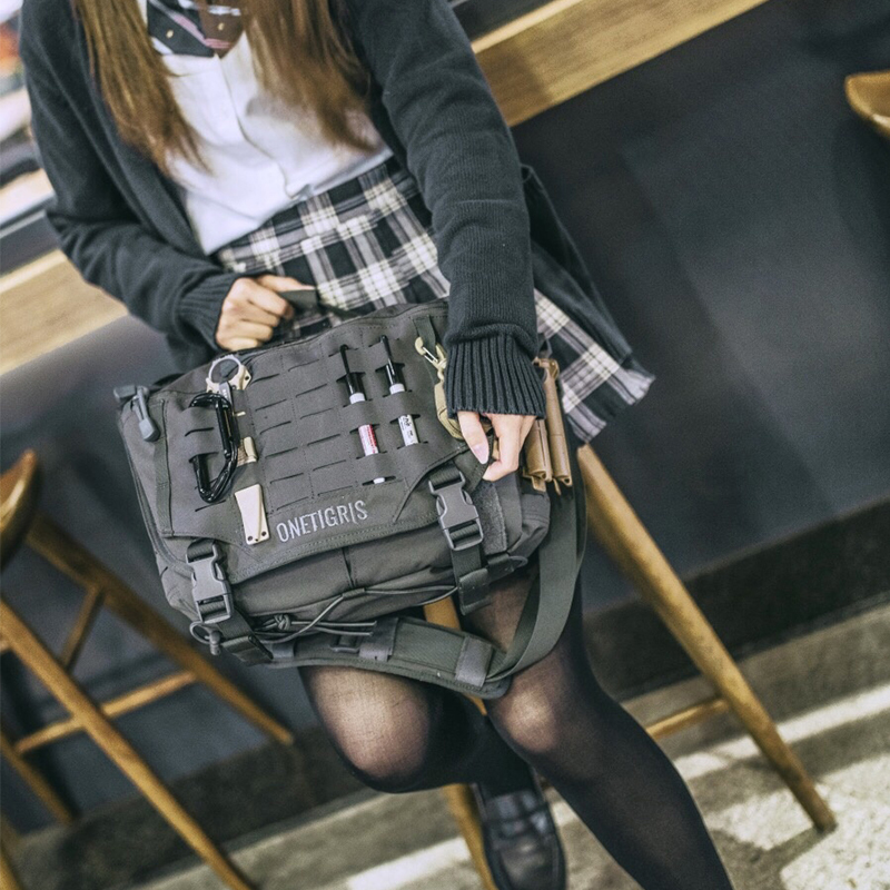 OneTigris HU Tactical Messenger Bag Military Army Crossbody Bags For Men Outdoor Molle Laptop Bag for the Urban Wild messenger bag