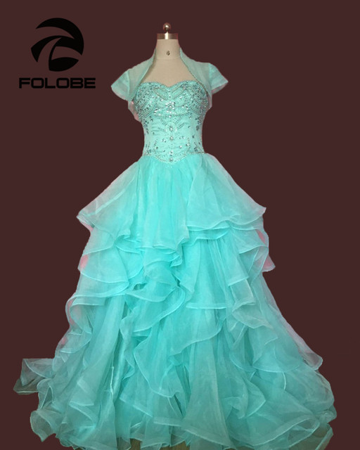 6222311e01f Custom Made Vestidos De Festa Strapless Beading Crystal Organza Ball Gown  Quinceanera Dresses Ruffles Pleated Prom Gowns 3218