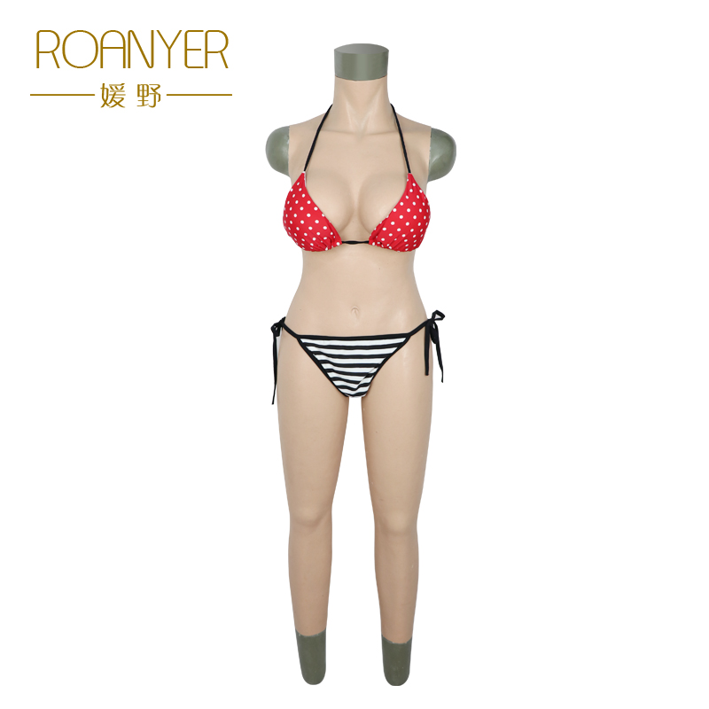 Roanyer transgender silicone breast forms shemale whole body suits female artificial boobs penetrable fake vagina crossdresser roanyer pant large size with fake penetrable vagina artificial realistic silicone fits crossdresser transgender transsexual