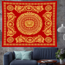 Court style retro Deconstruction Indian Mandala Tapestry Polyester Wall Hanging Table Cloth Curtain Blanket Yoga Mat