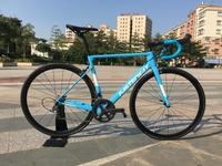 700C carbon Road Complete Bike 22 Speed 105 5800 Groupset TAIWAN brand light blue sky FASTERWAY CLASSIC D brake 49/52/54/56/58