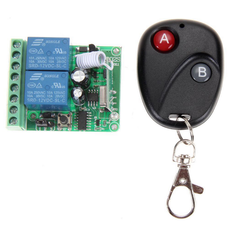 1pc DC12V 2 Channel Learning Code Relay Receiver + Professional Wireless Remote Control Transmitter 433MHz niklen скатерть круглая белая acdchs9