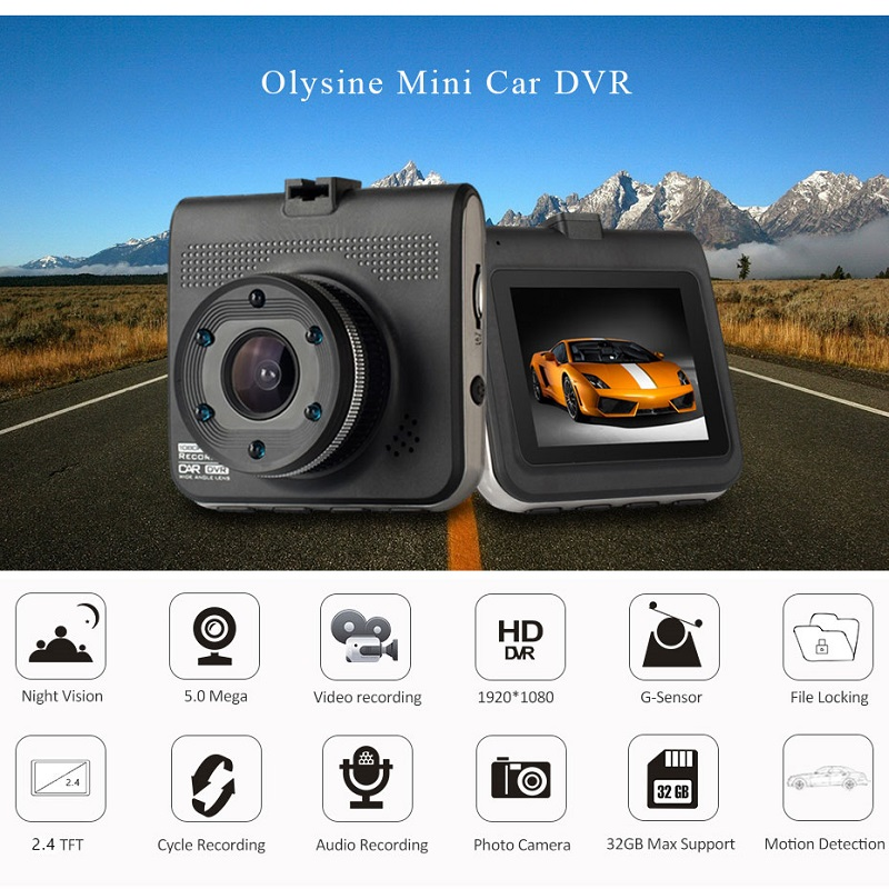T661 Car DVR Full HD 1080P Dash Camera Auto Video Recorder Vehicle Camera IR Night Vision Dashcam Registrar Carcam DVRS