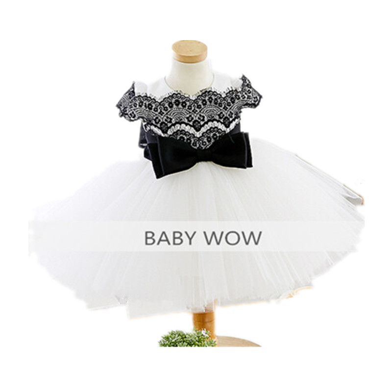 BBWOWLIN Blck Lace Baby Girl Christmas Dress for 1 Year Birthday First Communion Dresses Christening Cocktail Dresses  80190 baby wow baby clothes girl dresses for 1 year birthday christmas first communion dresses for toddler clothes 80187