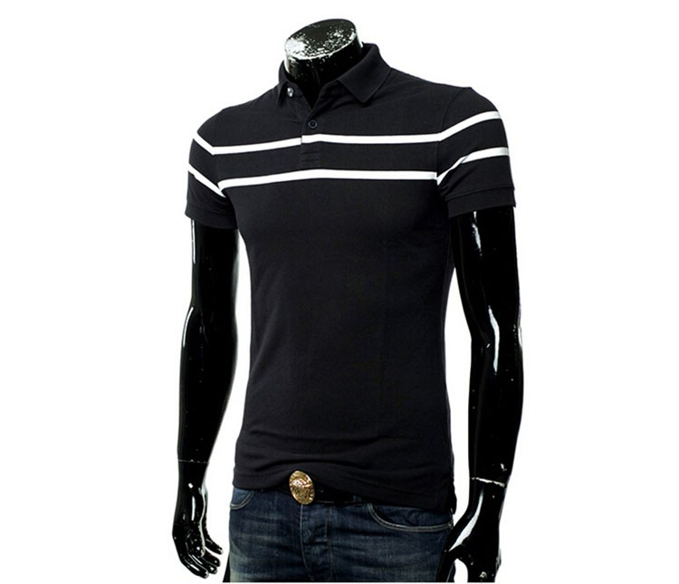 Polo Men Fashion Casual Classic Striped Golf Polo Shirt Slim Fit Summer Cotton Short Sleeve Tee Camisa Polos Homme Plus Size 3XL (8)