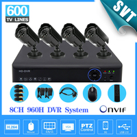 Dvr 8 Channel Camera Cctv Video Surveillance System 8ch Full 960h Real Time Recording For Zmodo