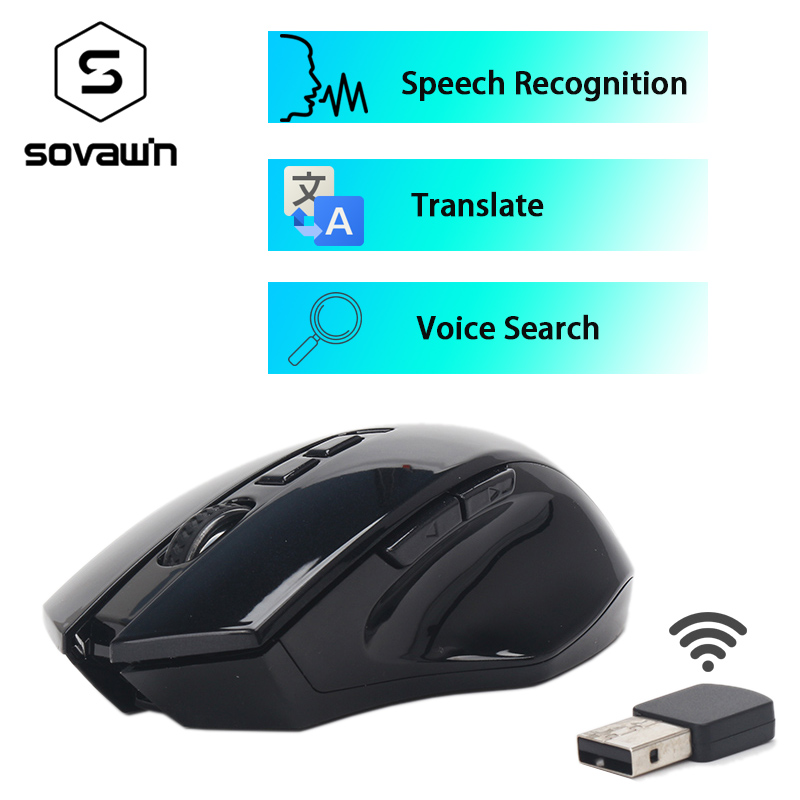 Smart Voice Mouse 2.4 Wireless Computer Lazy Ergonomics Rechargable USB Receiver Automatic Type Translate Speech Recognition