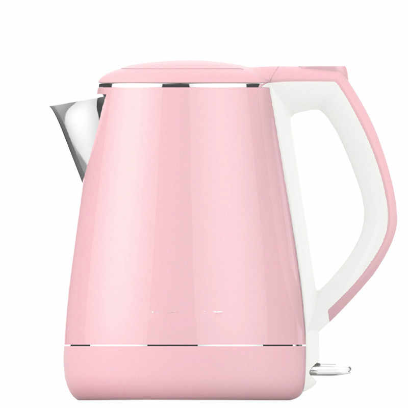 220V 1800w 1.2L Pink 304 stainless steel Electric kettle Auto-Off function 226x191x210mm