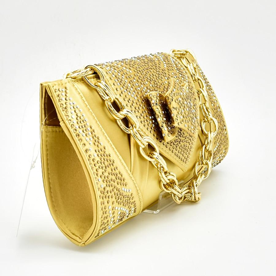 Nouvelle chaussure et sac pour la fête nigériane chaussures italiennes et sacs pour assortir les chaussures avec un ensemble de sac décoré avec des pompes d'été en strass - 2