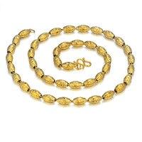 חרוזים אפריקאים שרשרת זהב לנשים/גברים, צבע זהב שרשרת שרשרת זהב, Vintage הודי תכשיטי כלה ניגרית