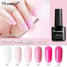 Vrenmol 1 шт. французский телесный розовый лак для ногтей Дизайн ногтей УФ-гель лак прозрачный клей для ногтей нужно верхнее Базовое покрытие