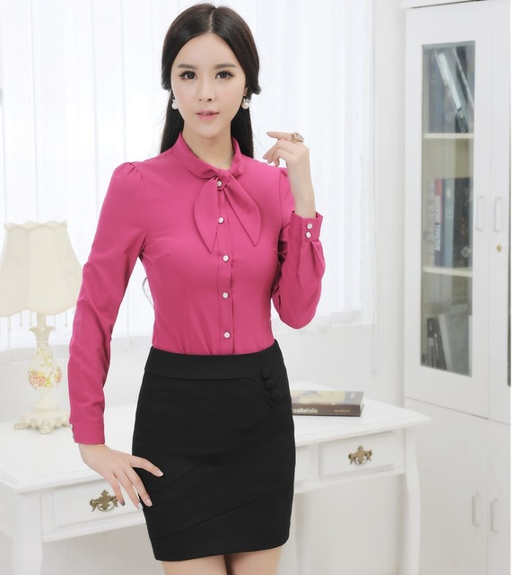 984b7dc5ba New Elegant Business Women Suits With Blouse And Skirt Slim Fashion Uniform  Style Ladies Shirts Tops Clothing Sets Plus Size 3XL-in Skirt Suits from ...
