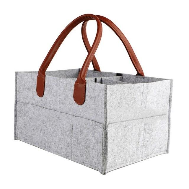 Новинка органайзер для детских подгузников с ручкой, портативная корзина для хранения подгузников, автомобильные сумки для детского душа, подарочная корзина