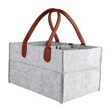 Novo organizador de fraldas do bebê bin com alça de armazenamento portátil caddy fralda sacos de carro do chuveiro do bebê presente cesta