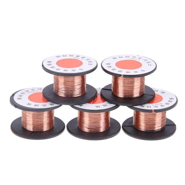 20pcs/set 0.1mm Thin Copper Enameled Wire Welding Fly Line Copper ...