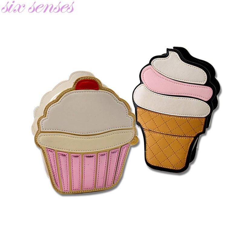 Seis sentidos de Dibujos Animados Mujeres del helado de La Magdalena Mini Bolsos