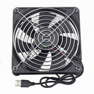Image 4 - Gdstime 2 個を新 Tv ボックスワイヤレスルータ 14 センチメートル 5 V USB 冷却ファン PC DIY クーラーワット/ ネジ保護ネットサイレントデスクトップファン