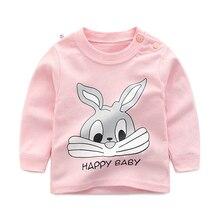 Новые осенние брендовые футболки для маленьких девочек и мальчиков детская весенняя одежда детская футболка костюм с принтом кролика футболки с длинными рукавами