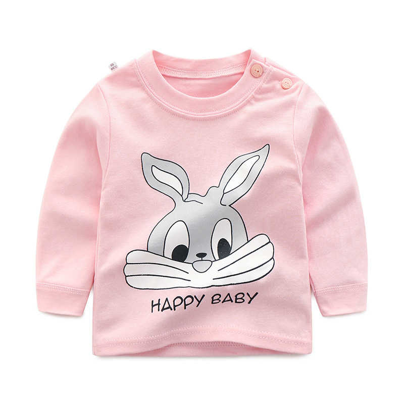 New Autumn Brand Baby Girls Boys T-shirts Kids Spring Clothes Child T-shirt Rabbit Print Clothing Costume Tops Tees Long Sleeve
