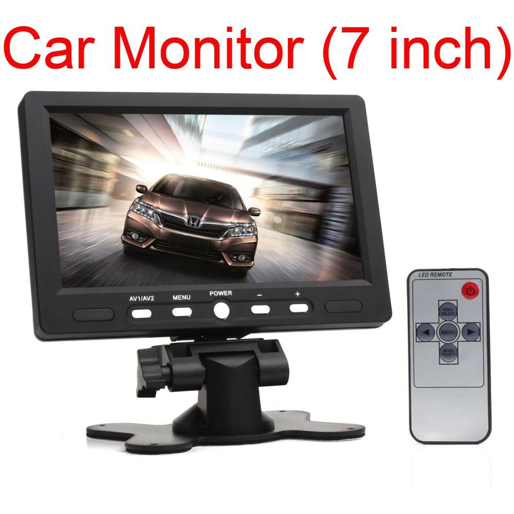 7 pulgadas LCD HD 800 * 480 Resolución Monitor de coche Pantalla de - Electrónica del Automóvil
