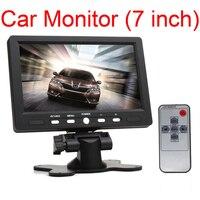 7 inch LCD HD 800*480 Resolution Car Monitor Rearview Screen HDMI VGA DVD Digital Display For Car Backup Camera +Remote Control