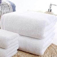 100% Algodão 70 cm * 140 cm de Banho Do Hotel Toalha Branca de Algodão Macio Cabelo Secagem rápida Toalhas de Mão de Primeira Qualidade
