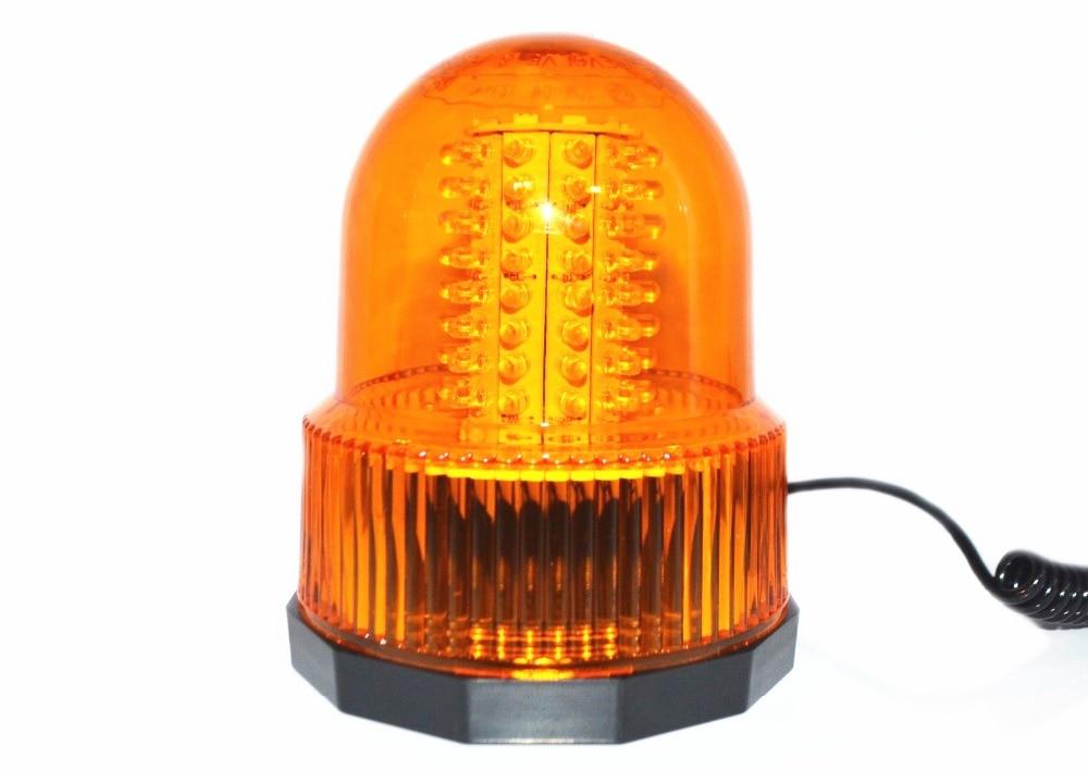 80 LED Car Truck Flash Warning Light Beacon Strobe Light Emergency Light Amber