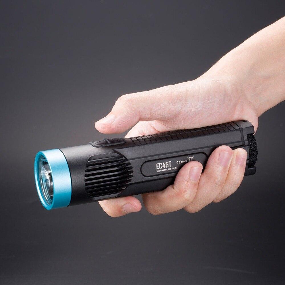 2019 NITECORE 1000 Lms излучатель фонарик Фонарь Лампа EC4GT Ограниченная серия удобный портативный Diver 2x18650 батареи Бесплатная доставка - 4