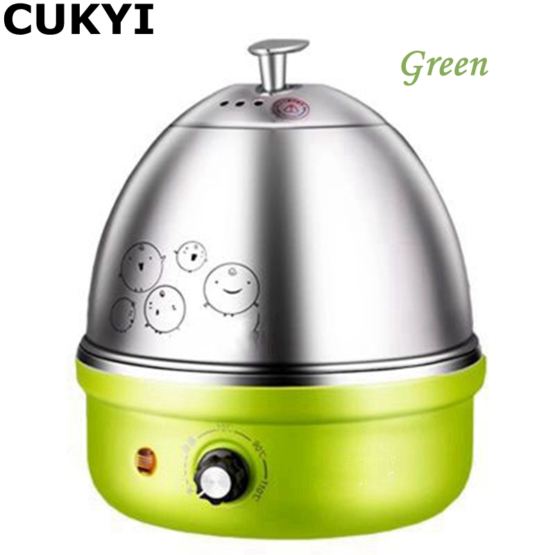 CUKYI 380W 220V/50Hz 7 Eggs Diverse Colors Multifunctional Electric Boiler Stainless Steel Mini Steamer Kitchen Cooking Tool cukyi household electric multi function cooker 220v stainless steel colorful stew cook steam machine 5 in 1