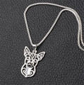 Hollow Out Cute Chihuahua Necklace Animal Jewelry Silver Plated Dog Necklace for Women XL-005