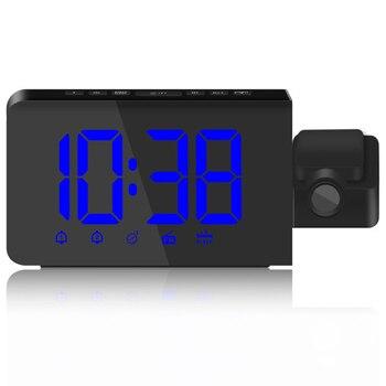 Zmiany jasności dzień/noc zasilanie prądem zmiennym radio fm z zegarkiem, 12/24 godzin projekcji alarm z funkcją drzemki zegar