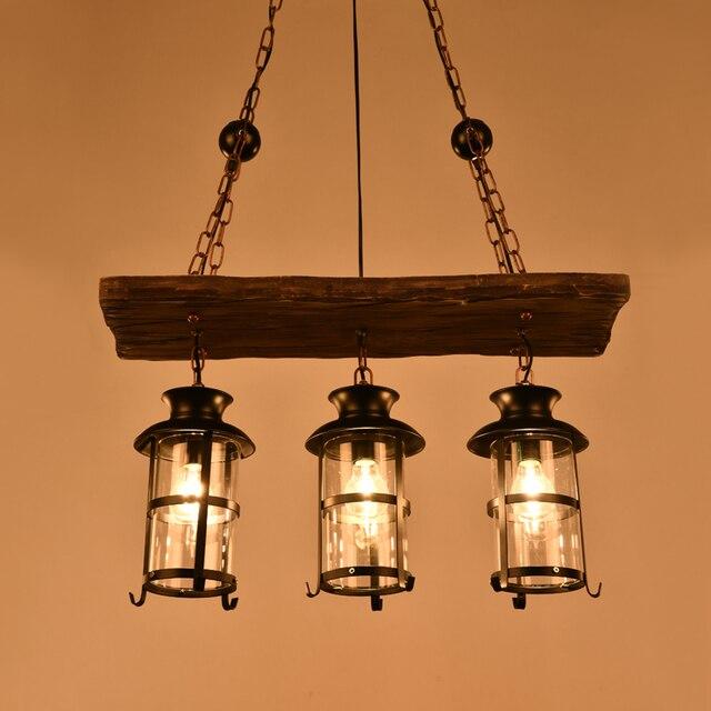 Amerikaanse land retro massief houten hanglamp persoonlijkheid ...