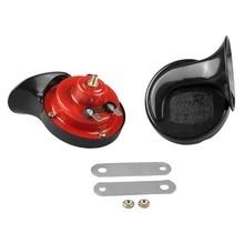 цена на Loud Dual-tone Snail Horn Universal Electric Air Horn 12V 110 dB Car Truck Auto