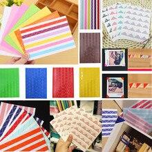 2019 DIY Photo Album Scrapbook Corner Sticker PVC Colorful Paper Stickers Frame Picture Decoration 1Sheet