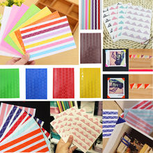 2019 DIY Photo Album Scrapbook Corner Sticker PVC Colorful Paper Corner Stickers Frame Picture Decoration 1Sheet(China)