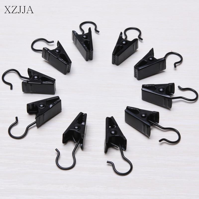 Xzjja 10pcs Window Shower Curtain Rod Clips Hook Sturdy And