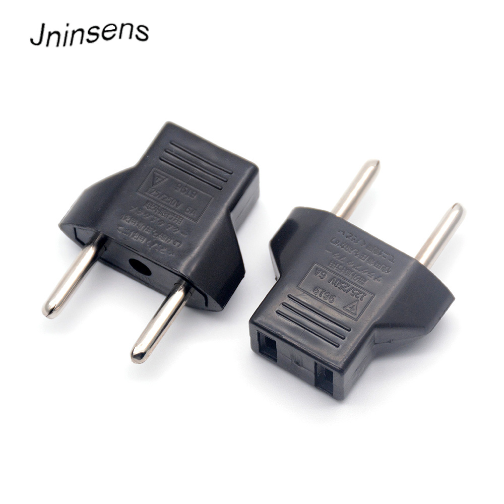 Common US to EU AC Power Plug Home Travel Converter USEurope EURO Wall Charger Jack Connector Socket Adapter Adaptor