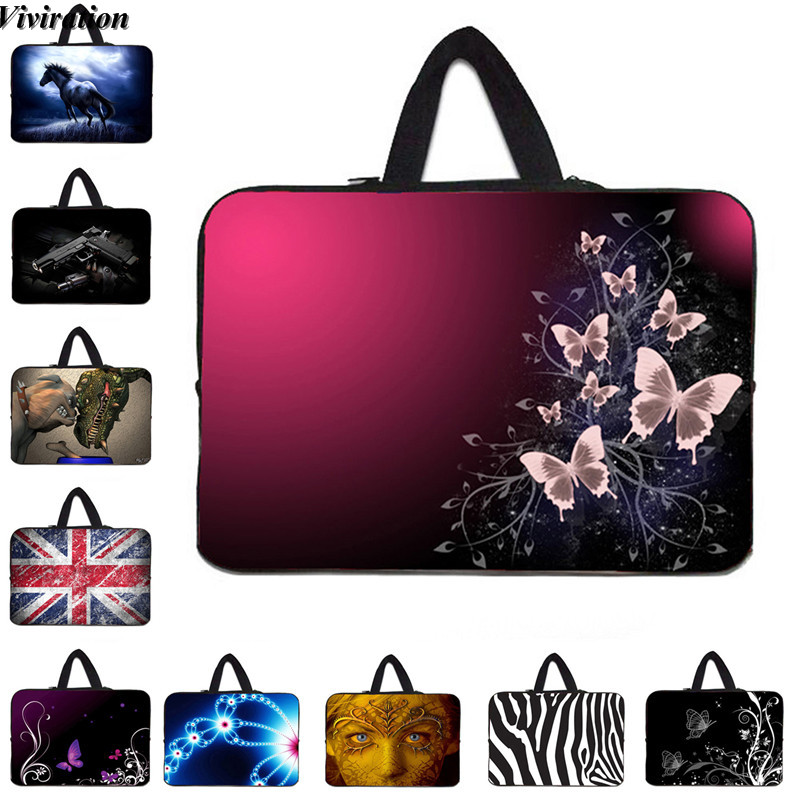Viviration Women Notebook Case 17 Inch Beautiful Butterfly Computer Bag 17.3 17.4 16.8 Sleeve Carry Laptop Cover Pouch For Dell