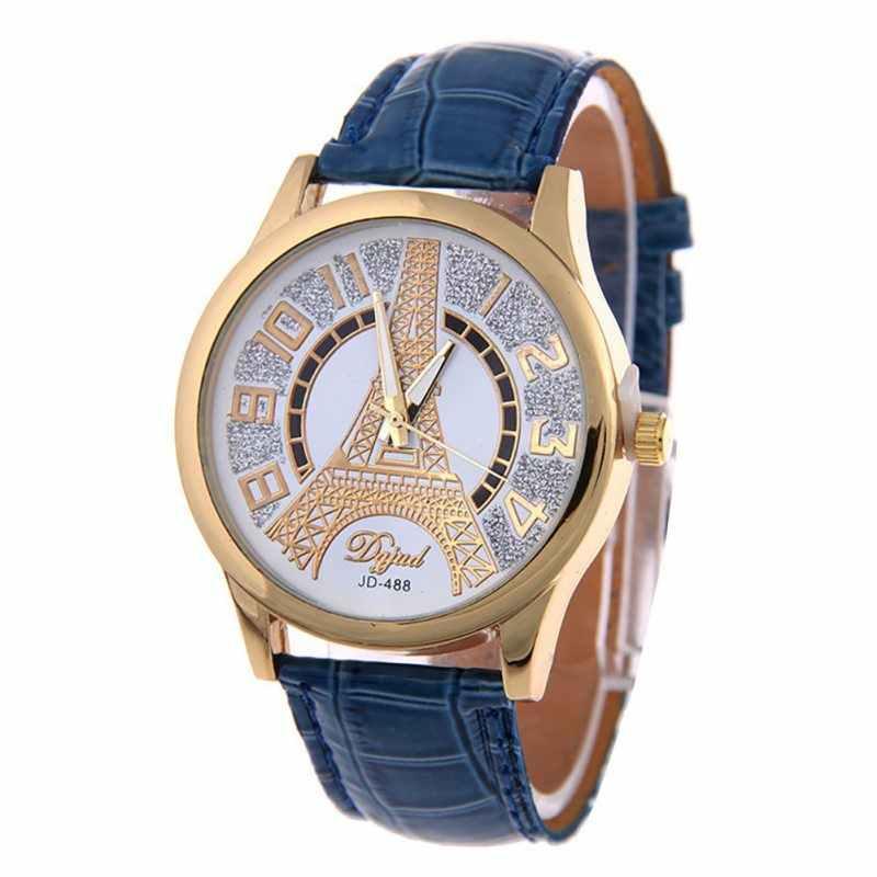 הכי חדש אופנה Feminino עור קוורץ אנלוגי נשים שעון מקרית גבירותיי שעונים צמיד מקרית חיוג בנות קוורץ שעון יד