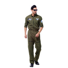 HUIHONSHE Men Pilot Aviator Cosplay Halloween Policeman Special Forces Costumes Easter Purim Carnival Masquerade Party Camouflag(China)