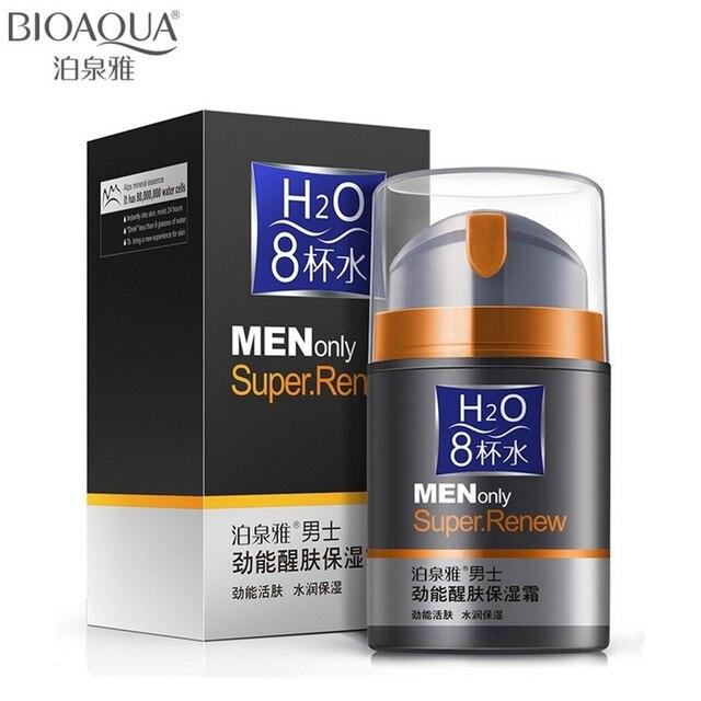 50 г bioaqua бренд уход за кожей мужчин глубокий увлажняющий масло-контроль крем для лица увлажняющий антивозрастной Anti Wrinkle Дневной крем отбеливающий