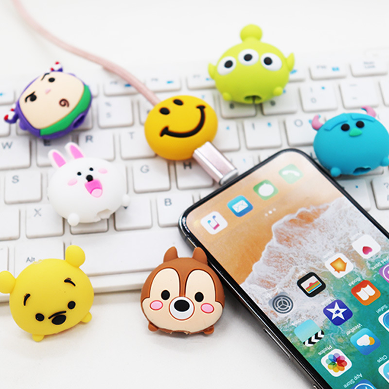 High Quality Mobile Phone Cable Protector Phone Holder Cable Bite Protector Winder Accessory for Iphone