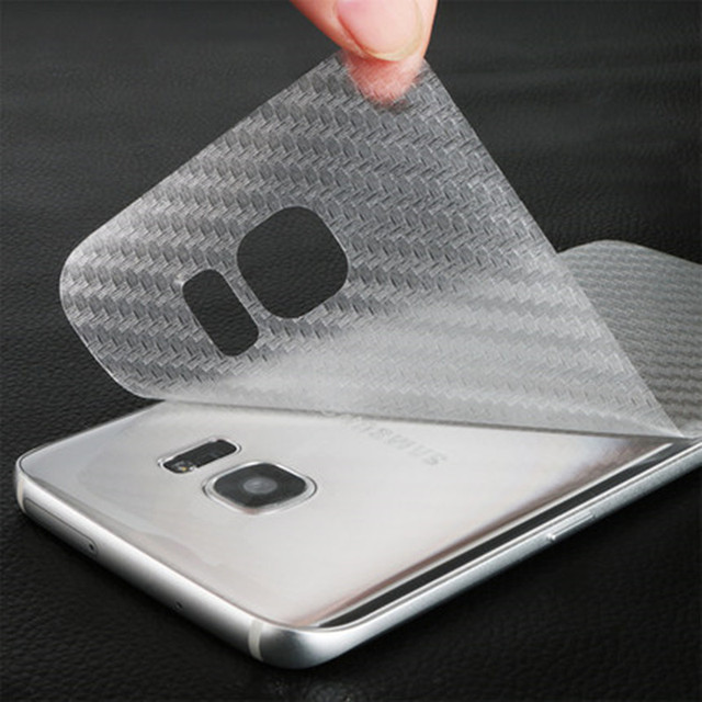 wholesale dealer befd4 ec382 US $1.98 |For Galaxy S8 Plus 3D Transparent Carbon Fiber Back Film Screen  Protector For S7 Edge S6 Plus J5 J7 2016 A3 A5 A7 2017 2016 2pcs-in Phone  ...