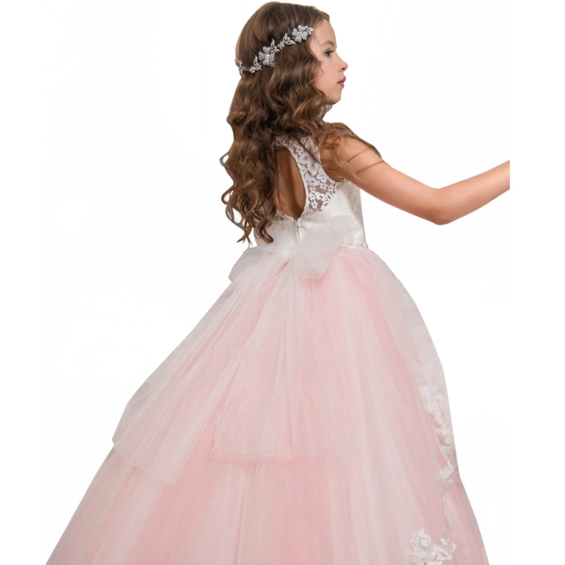 aef4a1725 fancy little girls butterfly dress long vestido first communion dress kids  ball gown with bow pink flower girls tulle dresses - aliexpress.com -  imall.com