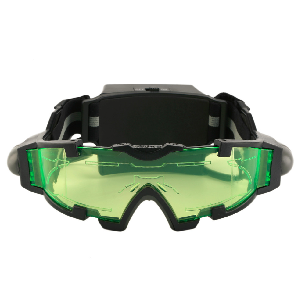 Eye Shield Hunting Night Vision Goggles Green LED Lights Ergonomic Goggles Night Vision Device Adjustable free shipping|Cycling Eyewear| |  - title=