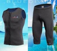 新しいスタイルネオプレンウェットスーツベスト+トランクス女性2ミリメートルサーフィン水