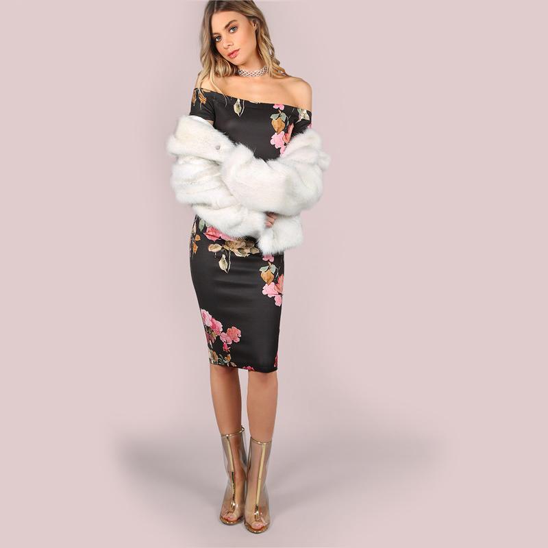 Robe Sexy Moulante Idéale pour Soirée et Sorties Épaule Ouvertes